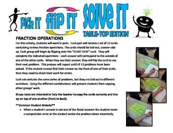pick IT-flip IT-solve IT TABLE-TOP EDITION(simple fraction