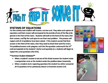 pick IT-flip IT-solve IT (systems of equations)