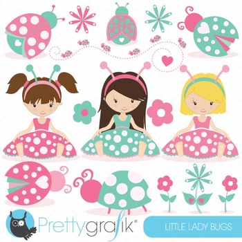 pink Ladybug clipart commercial use, ladybug vector graphi
