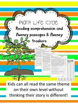 plant parts and life cycle fluency and comprehension level