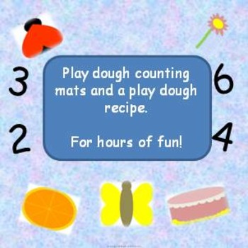 play dough counting mats activity