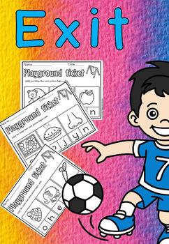 playground exit tickets