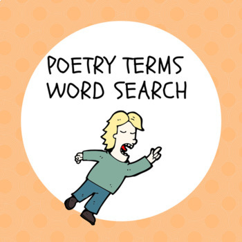 poetry terms wordsearch