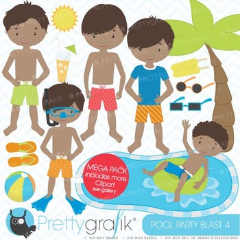 pool party clipart commercial use, vector graphics, digita