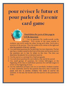 pour reviser le futur et parler FRENCH FUTURE TENSE