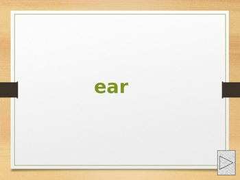 power point presentation using alterative spellings of ear
