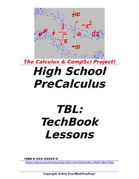 preCalculus or Algebra 2 TBL: TechBook Lessons - Intro Cal