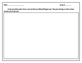 prediction drawing/multiple intelligence worksheet