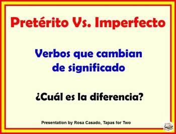 preterito vs imperfecto
