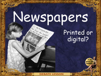 printed Newspapers, have you seen one lately? ESL and conv