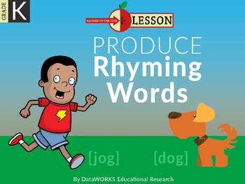 Produce Rhyming Words - Short Vowels