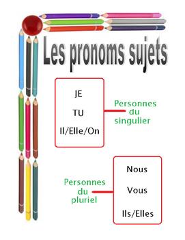 pronoms sujets