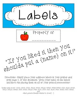 property address labels
