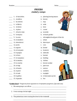 prueba de vocab - ciudad y campo (matching)
