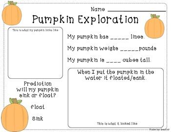 pumpkin exploration form
