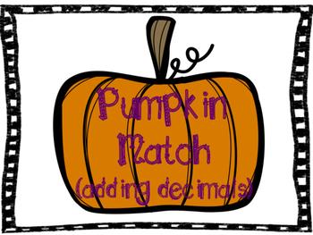 pumpkin match (adding decimals)