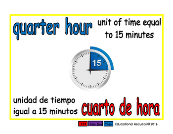 quarter hour/cuarto de hora meas 1-way blue/rojo