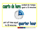 quarter hour/cuarto de hora meas 1-way blue/verde