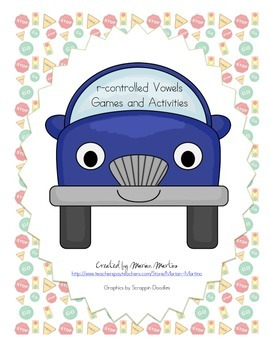 r-controlled Vowels Games and Activities Car Theme
