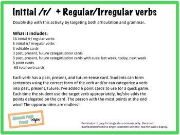 /r/ initial + regular/irregular verbs
