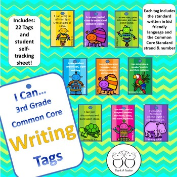 3rd Grade Writing Common Core Brag Tags