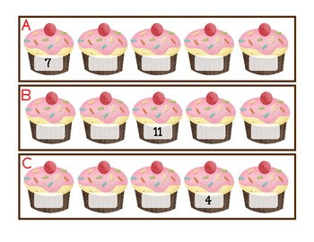 read and write the room: cupcake theme number sequences