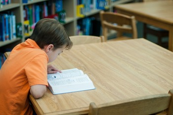 Stock Photo Styled Image: Student Reading #6 -Personal & C