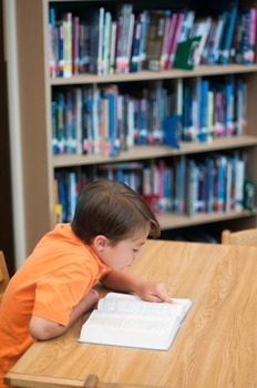 Stock Photo Styled Image: Student Reading #7 -Personal & C