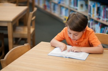 Stock Photo Styled Image: Student Reading #9 -Personal & C
