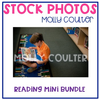 Stock Photo Styled Image: Student Reading Set-Personal & C
