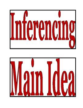 reading comprehension labels