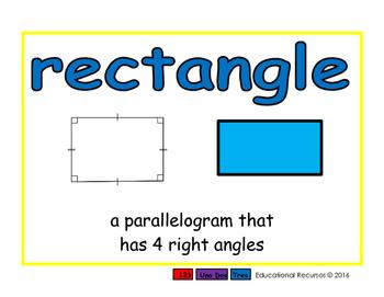 rectangle/rectangulo geom 2-way blue/rojo