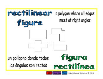 rectilinear figure/figura rectilinea geom 1-way blue/verde