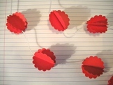 red scallop paper garland
