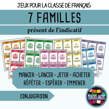 French/FFL/FSL - Games - Seven Families - Verbs 5