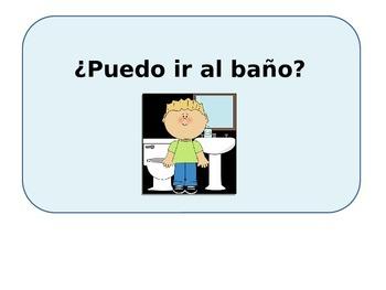 restroom sign puedo ir al bano spanish