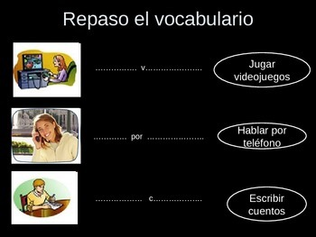 review of Use of Gustar and actions verbs
