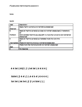 rhythmic baseline assessment