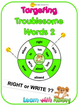 right/write - UK English Targeting Troublesome Words Worksheets