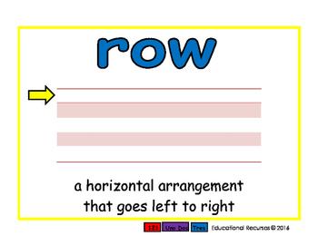 row/hilera prim 2-way blue/rojo