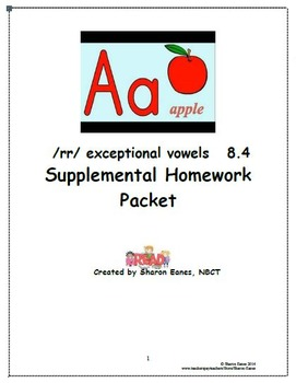 /rr/ exception to r-controlled vowels 8.4 Supplemental Hom