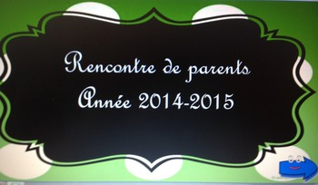 réunion de parents/ back to school parent-teacher meeting