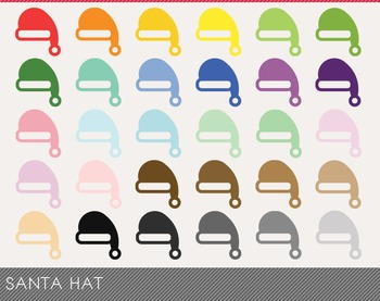 santa hat Digital Clipart, santa hat Graphics, santa hat PNG