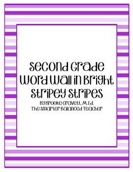 second grade word wall bright stripey stripes