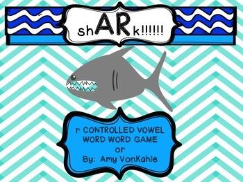 sh - AR - k!!!  R- controlled vowel Word Work