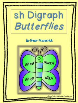 sh Digraph Butterfly Card Game