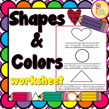 FREE shapes and colors worksheet