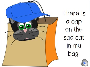 short a PowerPoint...There's a cap on the sad cat in my bag.