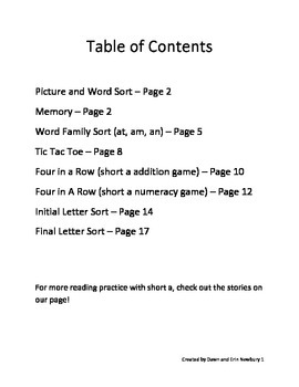 short a sorts and games