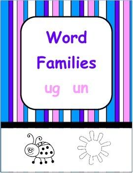 short u word families - ug  un